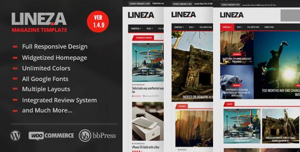 Lineza - Modern Responsive Magazine Theme