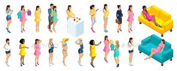 Isometric Pregnant Women