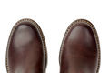 Brown leather shoes close-up, top view - PhotoDune Item for Sale