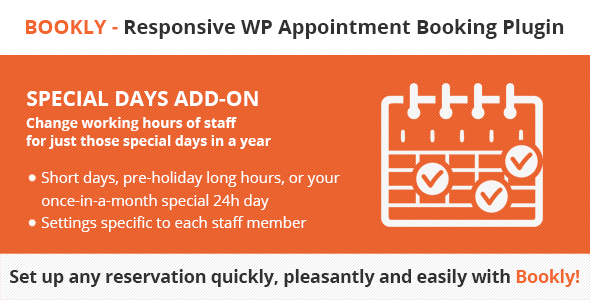 Bookly Special Days, Bookly Special Days (Add-on), Bookly Special Days free download, Bookly Special Days (Add-on) license key, Bookly Special Days (Add-on) nulled
