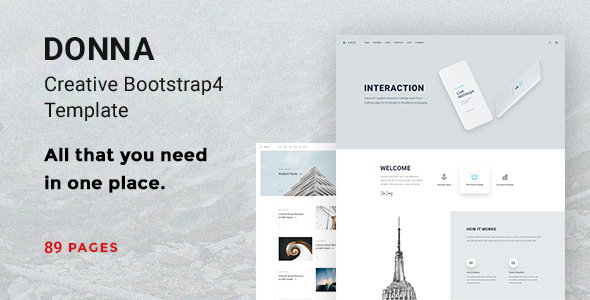 Donna – Creative Bootstrap 4 Template
