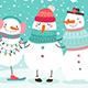 Snowmen Hugging - GraphicRiver Item for Sale