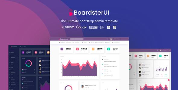 BoardsterUI Bootstrap Admin Dashboard Template