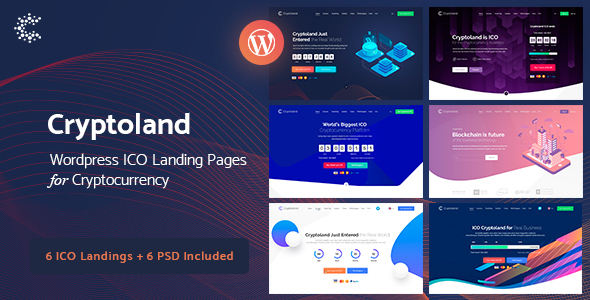 Cryptoland -  ICO Landing Pages WordPress Theme