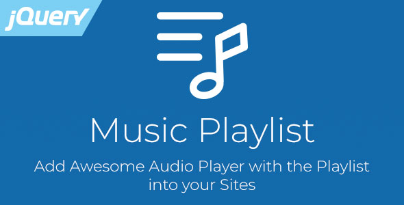 Music Playlist - jQuery Audio Player with Playlist Download