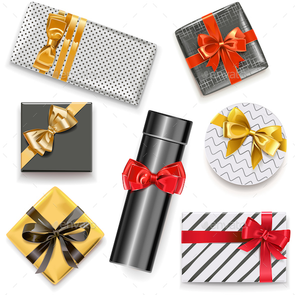 Vector Gift Boxes Icons