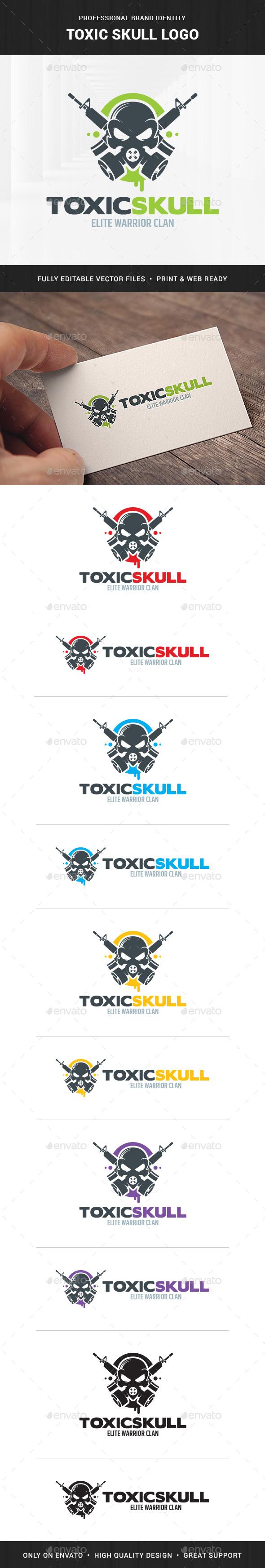 Toxic Skull Logo Template