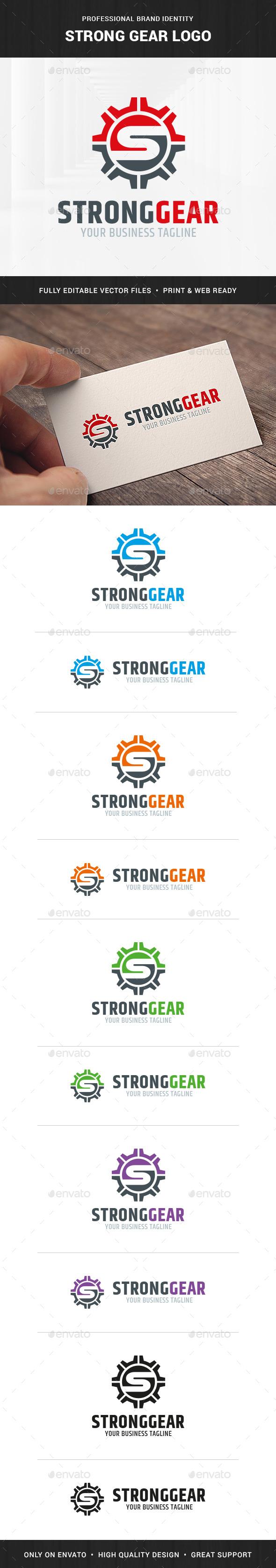 Strong Gear - Letter S Logo