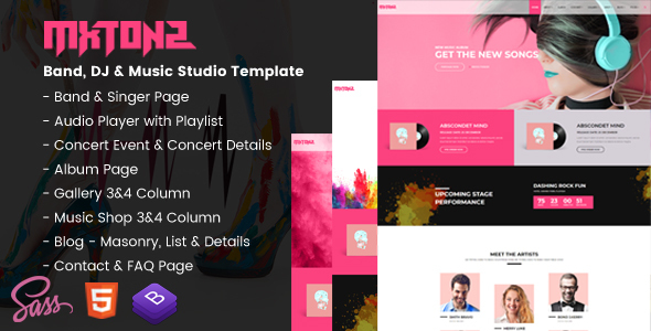 Music Player Templates from ThemeForest