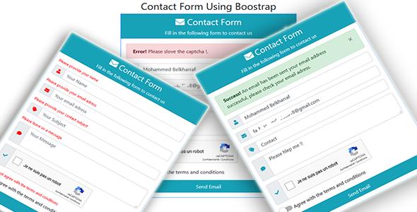 Asp.net Contact Form Using Boostrap