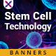 Stem Cell Technology Web Banner Set - GraphicRiver Item for Sale