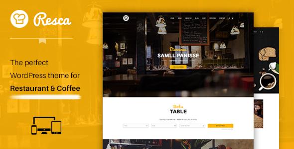 Restaurant WordPress Theme - Resca Restaurant