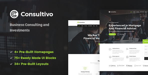 Consultivo - Business and Investments Drupal 8.8 Theme