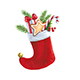 Christmas Sock with Gifts - GraphicRiver Item for Sale