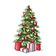 Christmas Tree with Gifts - GraphicRiver Item for Sale