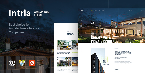Intria - Architecture and Interior WordPress Theme