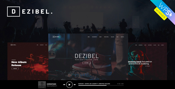 Dezibel - Music Band & Musician WordPress Theme