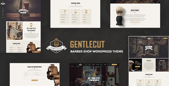 Gentlecut - Barbershop and Hairdressers WordPress Theme