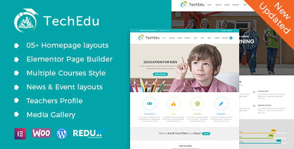 Download TechEdu – Education WordPress Theme nulled 01 preview techedu wp