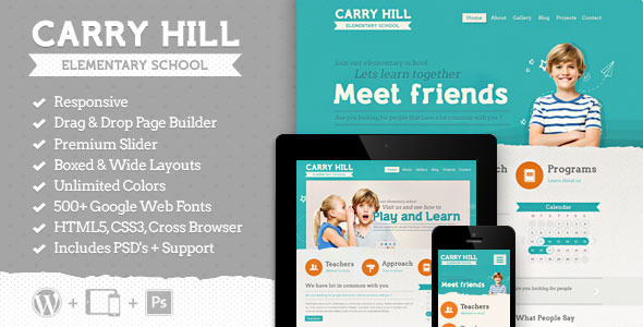 Carry Hill School - Education Wordpress Theme