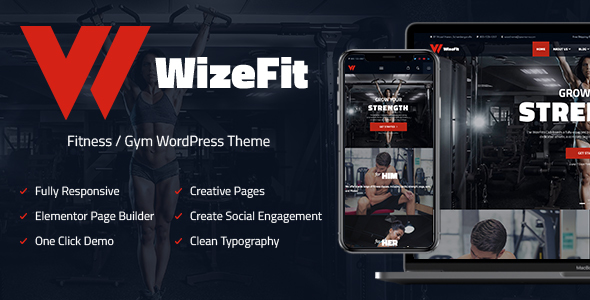 WizeFit | Fitness and Gym for Elementor