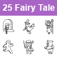 Fairy Tale II Outlines Vector Icons - GraphicRiver Item for Sale