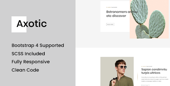 Axotic - Jekyll Blog Website Template