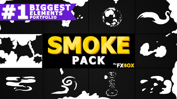 Free Download Cartoon SMOKE Elements And Transitions