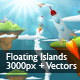 Beautiful Floating Islands Scene - GraphicRiver Item for Sale