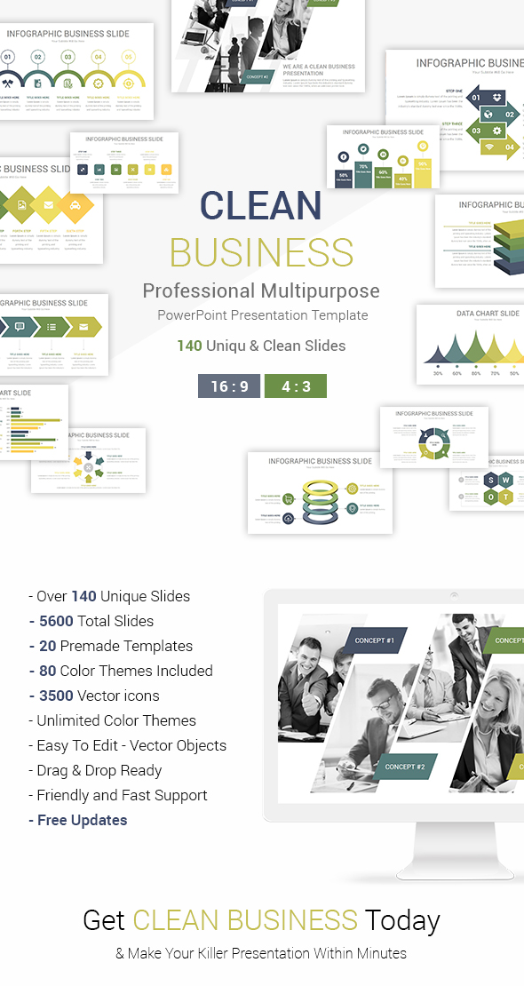 Clean Business PowerPoint Presentation Template