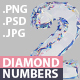 Diamond 3D Numbers with Transparent Background - GraphicRiver Item for Sale