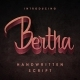 Bertha - script with English and Russian letters and ligatures. - GraphicRiver Item for Sale