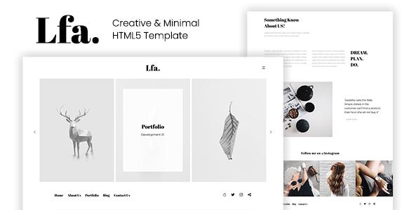 Lfa. – Creative & Minimal HTML5 Template