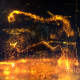 Glowing Particals Logo Reveal 31 : Golden Particals 10 - VideoHive Item for Sale