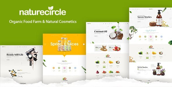 Naturecircle - Organic Food & Beauty Shop HTML Template