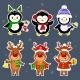 New Year and Christmas Card Characters - GraphicRiver Item for Sale