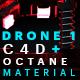 Drone 1 C4D - Octane Render Mix Material - 3DOcean Item for Sale
