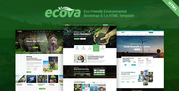 Ecova - Eco Environmental Bootstrap 4 Template - Crack Theme