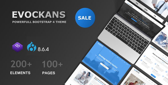 Evockans – Multi-Purpose Business Drupal 8.6.4 Theme