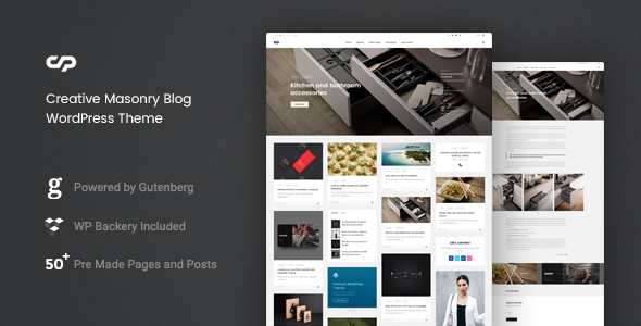 ClaPat - Creative Masonry Blog WordPress Theme