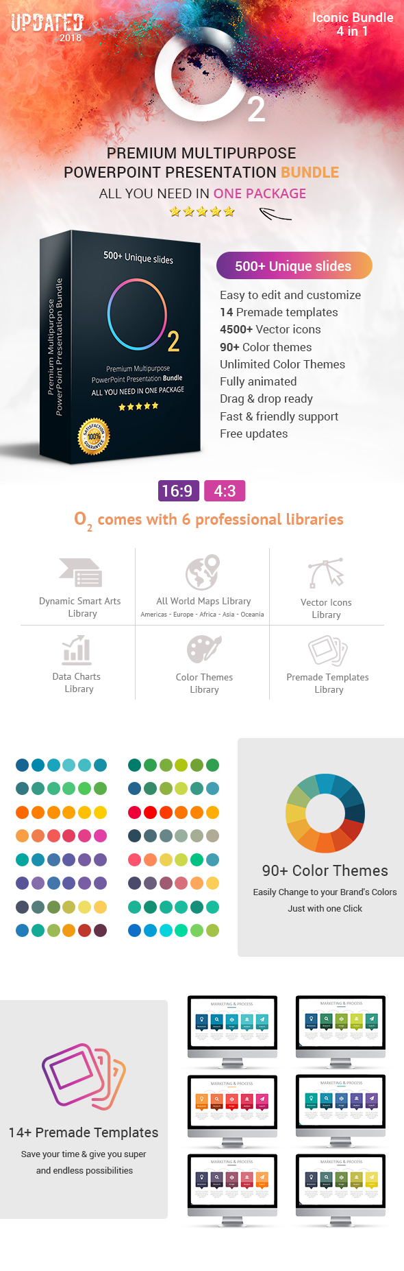 O2 Complete Business Solutions Top PowerPoint Templates Bundle