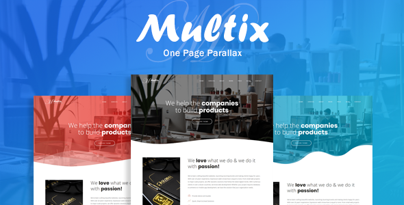 Multix - One Page Parallax