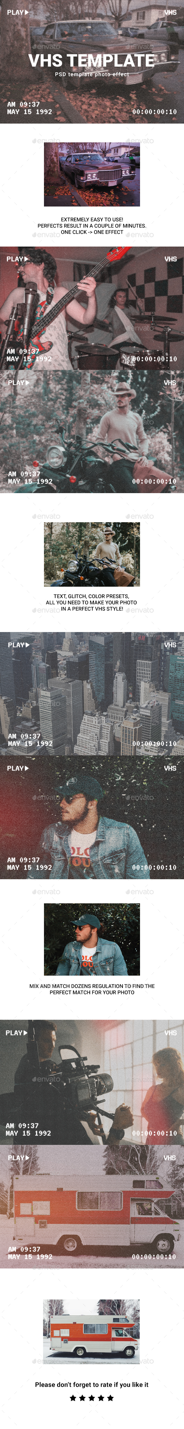 Vhs photo template
