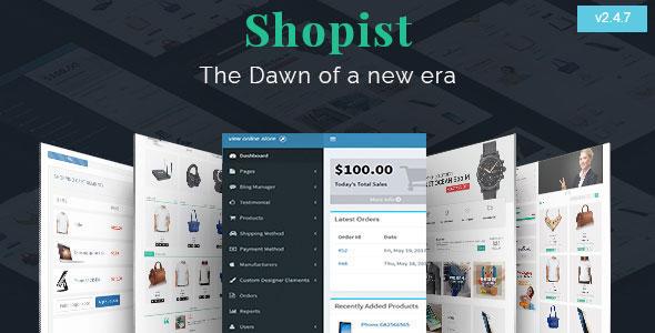 Shopist | Laravel Multivendor eCommerce, CMS and Designer