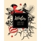 Vector Vintage Card with Finch and Holly - GraphicRiver Item for Sale