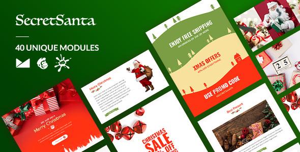 SecretSanta Email-Template + Online Builder