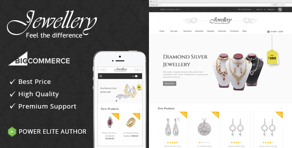Jewellery - Multipurpose Stencil BigCommerce Theme