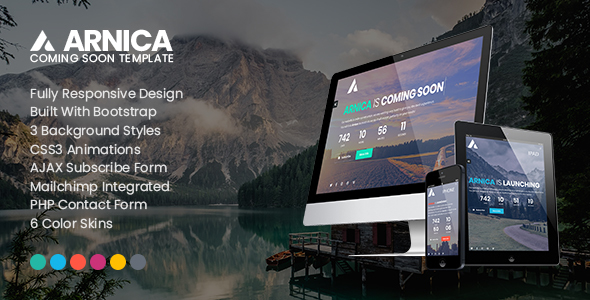 Arnica – Creative Coming Soon Template