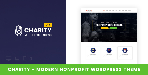Charity - Nonprofit WordPress Theme