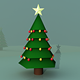 Christmas Tree 3D Model (Low Poly) - 3DOcean Item for Sale